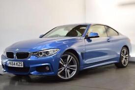 BMW 4 SERIES 3.0 430D XDRIVE M SPORT [19ALLOYS] 2d AUTO 255 BHP (blue) 2014