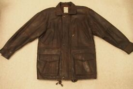 leather jacket - mens size large 42-44inches
