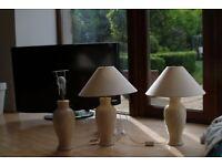 3 LAURA ASHLEY CERAMIC LAMPS