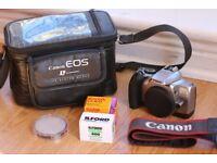 Canon EOS 3000V 35mm Film SLR Camera + Batteries + Ilford Delta 400 Black & White Film + Kodak Gold