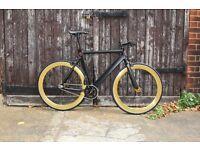 GOKU CYCLES!!! Aluminium Alloy Frame Single speed road track bike fixed gear racing fixie bicycle q3