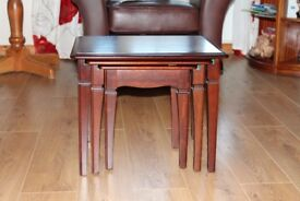 Quality Solid Wood Nest Of Three Tables by Stag