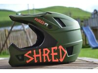 Shred Brain Box full face helmet - size Large, woodland green
