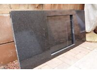 Granite worktop with hob cutout, Star Galaxy Black 1400x600mm approx