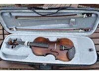 Full sized Hidersine Giovanni violin in good condition