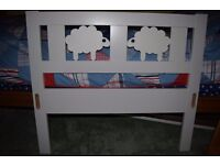 IKEA Kritter junior bed with slatted base, guard rail and mattress