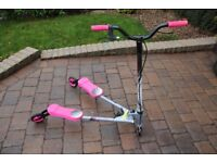 PINK, SILVER, BLACK FLICKER SCOOTER VGC IDEAL CHRISTMAS PRESENT???