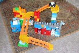 Megablok building blocks set with ramps/ emergency vehicles