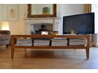 Oak Coffee Table With Layer for Books etc