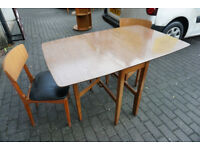 Retro 1970s Formica Topped Gate Leg Table Folding Table FREE DELIVERY CENTRAL EDINBURGH