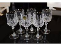 Set of 6 Longchamps Cristal d'Arques 12cl Stem Glasses