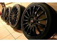 "17"" inch Team dynamics wheels 4x100 for Astra Corsa Civic Mg Clio Polo BMW Mini NOT pro race 1.2"