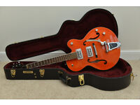 Gretsch 5120 with TV Jones Classics and G6241 Deluxe case (may trade for amp)
