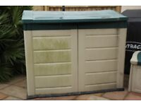 Garden Storage Box, Durable and Weather Proof.