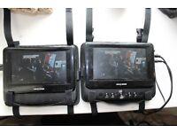 Next base incar twin screen DVD player
