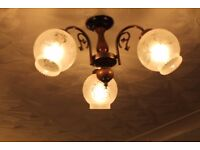 Two triple ceiling lights & two double wall sconces