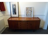 1960'S DANISH STYLE AFROMOSA SIDEBOARD TV Stand YOUNGER Storage Cupboard Teak retro Vintage