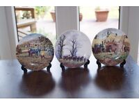 """Wedgwood Danbury Mint Queensware Collectors Plates from """"The Farm Year"""" Series"""