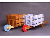 Wheelbarrow - Wooden photo props for newborn baby, barrow toy
