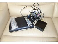 Sky box,router and remote plus BN remote