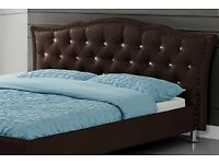 Georgio Brown Designer Bed Frame- Double