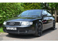 2002 AUDI A4 1.9 TDI SPORT BLACK 5 DOOR DIESEL FSH LONG MOT RS4 RS6 ALLOYS