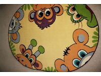 Children's oval rug