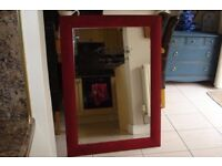 large mirror 43 inches by 32 inches. annie sloan chalk painted