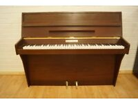 Small modern upright piano and stool - Tuned & UK delivery available