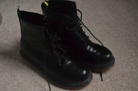 Beckett Mens Black Lace Up Ankle Boots - Size 9