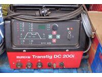 Murex Transtig DC 200i Welder + Welding TIG and STICK 6 x Cables + TIG Spares