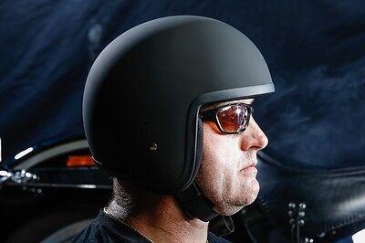 Open Face Harleys Helmet Low Profile Fibreglass Adr Legal Cool Black New S Xxl