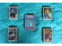 4 boxes of retro Top Trumps cards & 1 box of Cartes Nathan (French) £5 per box