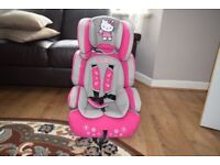 safety seat in the car for children in good condition