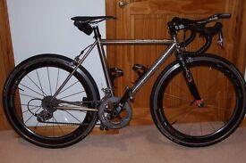 Litespeed Ghisallo Triathlon Bike. Titanium Aero Road Frame with Triathlon Geometry.