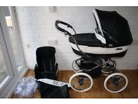 Black Bebecar Stylo Class Prive pram pushchair 2 in 1 *can post*