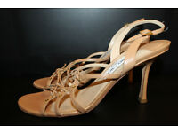 JIMMY CHOO LEATHER SANDALS SIZE 6.5/ 39.5 (Beautiful)