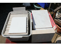 TWO BOXES OF CERAMIC WALL TILES.