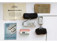 1950'S RETRO MINOX WETZLAR SPY CAMERA WITH FILM (1998) AND MINO SIX EXPOSURE METER
