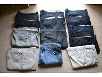 13 PAIRS OF MENS TROUSERS/JEANS VERY GOOD CONDITION