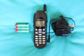 Motorola V2288 mobile phone with charger, instructions & original box