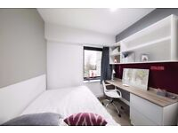 Double bed in 130 rooms student hall at London Road, Kingston Upon Thames Road in London