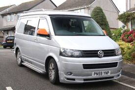vw t5 camper van with all the gear.