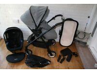 Silver Cross Wayfarer Special Edition Eton grey pram pushchair + car seat 3 in 1 CAN POST