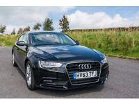 Audi A5 2.0 TDI Black SE Technik 5 door manual sportback SAT NAV Superb Condition Late 2013 63