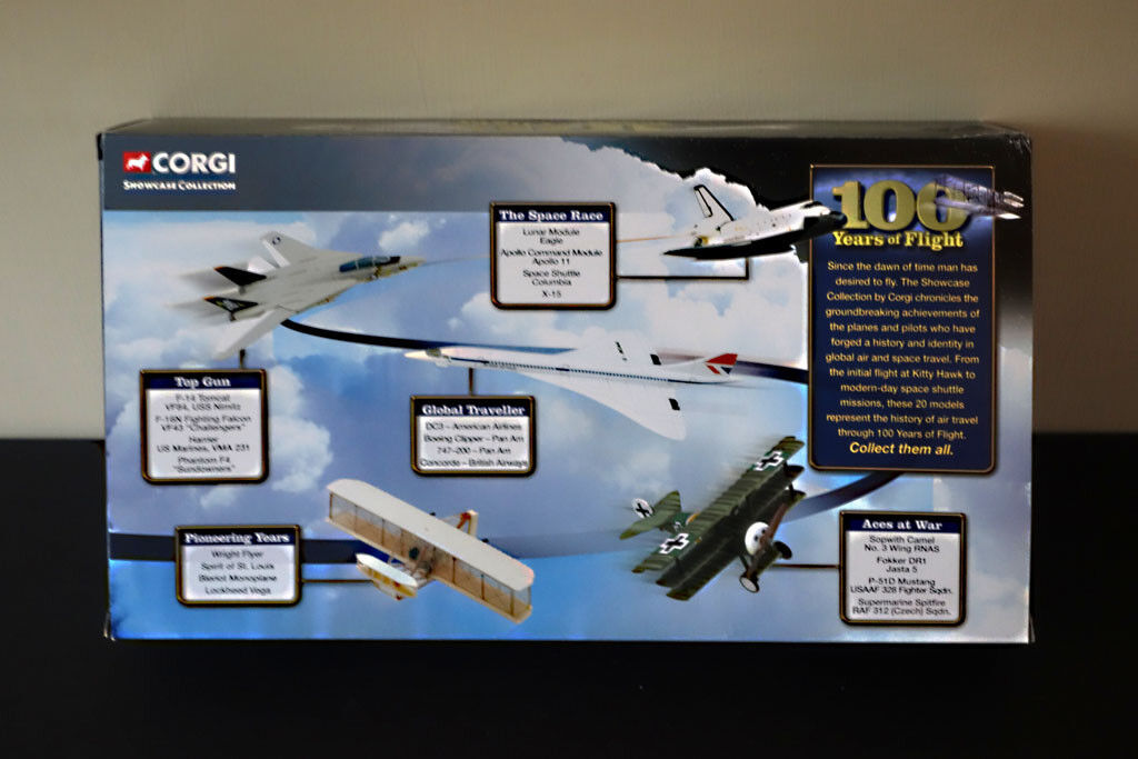 CORGI -100 YEARS OF FLIGHT -THE PIONEERING YEARS - THE SHOWCASE COLLECTIONS