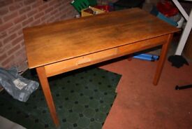Wooden School Desk / Office Desk / Table with drawers Used 1m37cm x 69cm x H76cm
