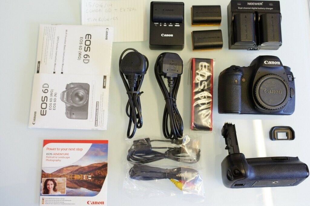 Canon 6D with box and Extras less than shutter count 12k | in Oldham,  Manchester | Gumtree