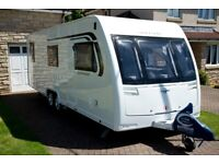2016 Lunar Quasar 646 Twin axle 6 berth with fixed bunks and end corner washroom