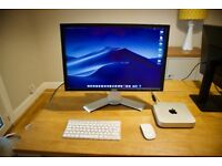 """Mac mini 2.3GHz i7, SSD, with 24"""" Dell Monitor, Apple Keyboard & Mouse Boxed Mint"""